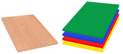 Regał Grzegorz - kolory płyty i obrzeży standard