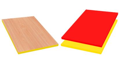 Meble przedszkolne - kolory płyty i obrzeży standard