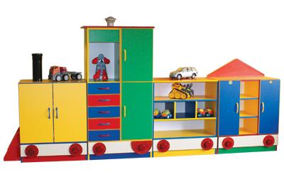 Pociąg z wagonikami - meble przedszkolne