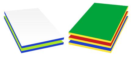 Kolory - zestaw przedszkolny Pociąg z wagonikami